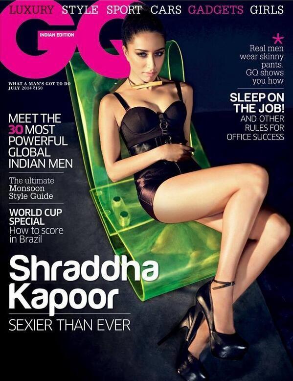 Shraddha Kapoor GQ India 2014 #Style #Bollywood #Fashion #Beauty