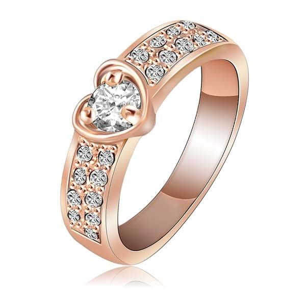Aaishwarya 18K Plated Love Forever Heart Zircon Ring #ring #heartring #lovering #zirconring #18krosegoldplatedring #fashionjewelry