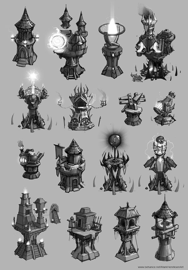 Tower designs (Concept art) on Behance