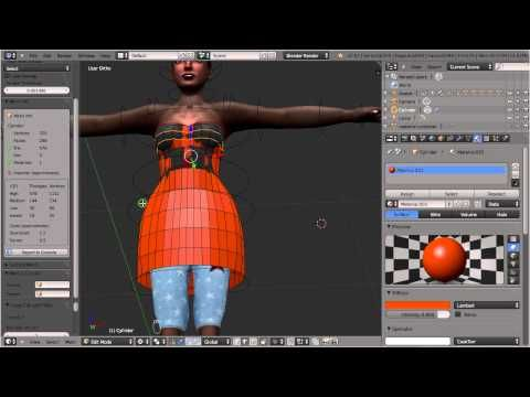 Learn: Mesh clothing/Avatar Attachments using Blender/Avastar - YouTube