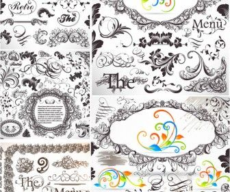 79 best vector images on pinterest free vector graphics bridal 5 sets of vector vintage baroque frames and classic embellishment elements decorative borders floral stopboris Image collections
