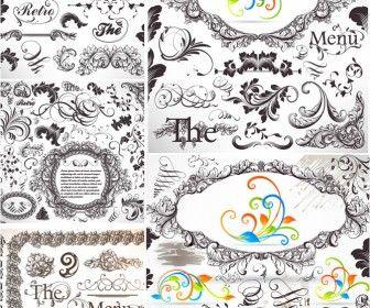 22 best decorative design elements images on pinterest design 5 sets of vector vintage baroque frames and classic embellishment elements decorative borders floral junglespirit Choice Image