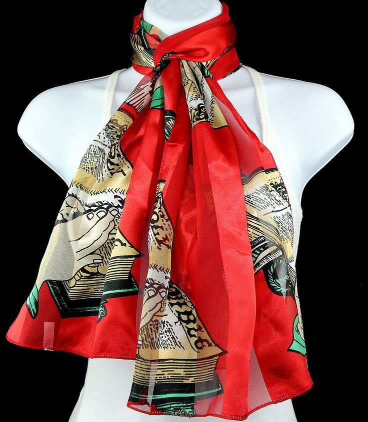 Holy Bible Womens Scarf Christian Religious Scarfs Easter Gift Red Scarves New #TiesJustForYou #Scarf