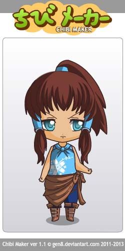 Korra (Avatar: The Legend of Korra) Chibi Maker