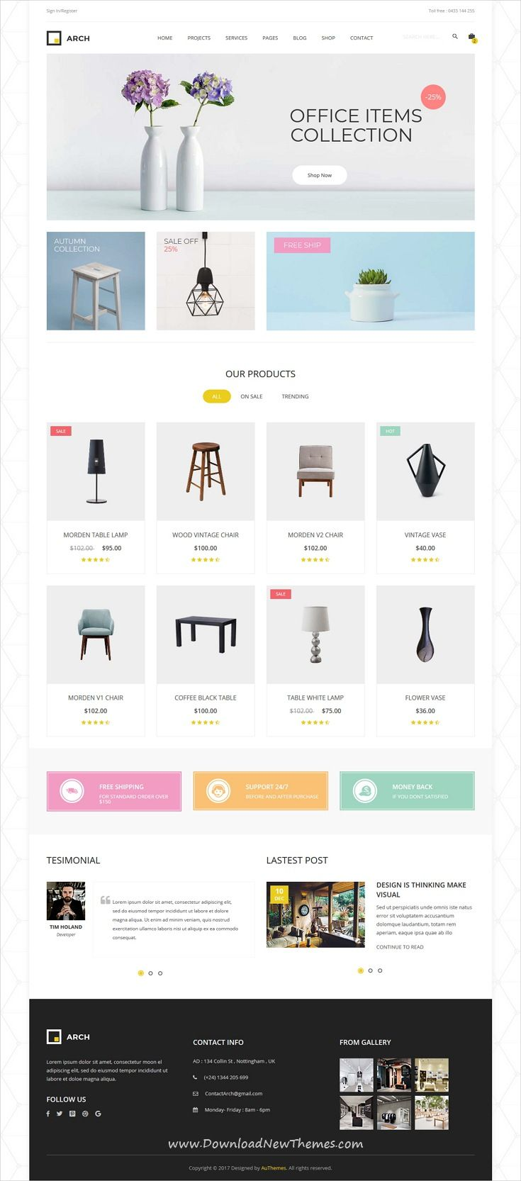 Arch Decor Is Clean And Modern Design 6in1 Responsive Bootstrap Html Template For Interiordesign Architecture And B Html5 Templates Templates Arch Interior