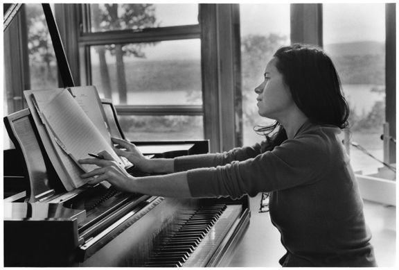 Natalie Merchant working at home, New York. I wish I had this poster.