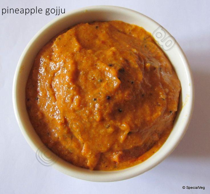 Sweet N' Sour Pineapple Chutney (Pineapple Gojju) | Special Veg