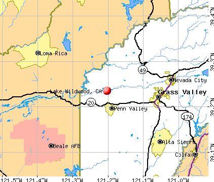 Lake Wildwood, California Street Map 0639885 | Pinterest | Lakes