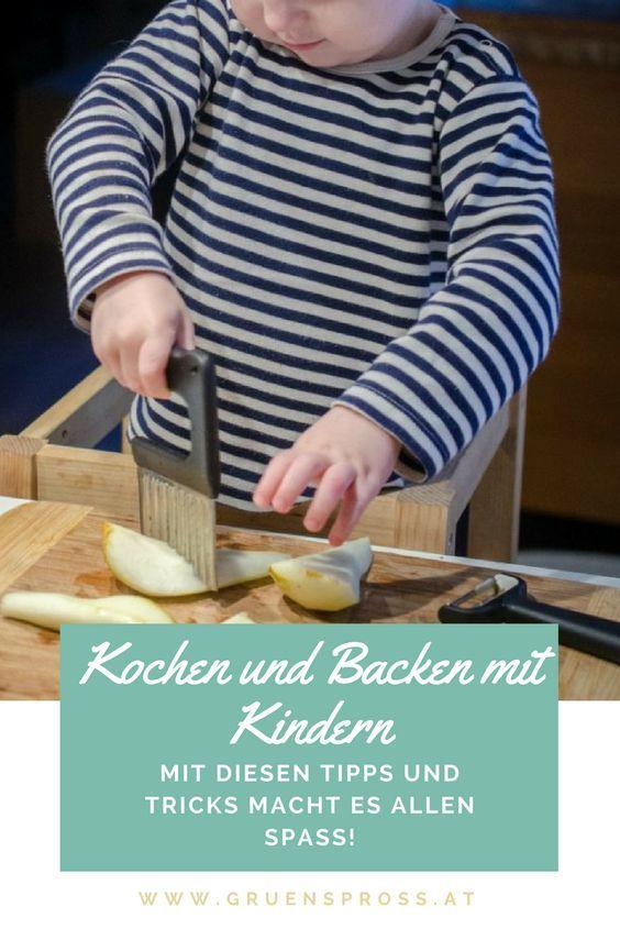Tipps, Tricks und Helferlein für das Kochen und Backen mit Kindern - entspannt und mit Spaß. #kochenmitkindern #lebenmitkindern