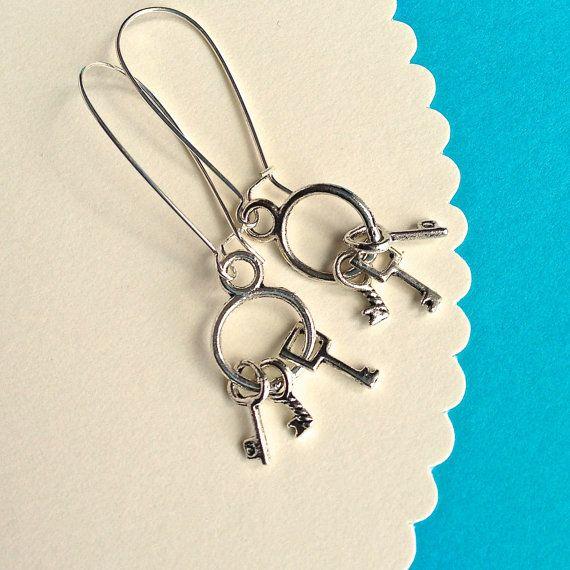 $7.00.  LOST YOUR KEYS earrings.  Cute.