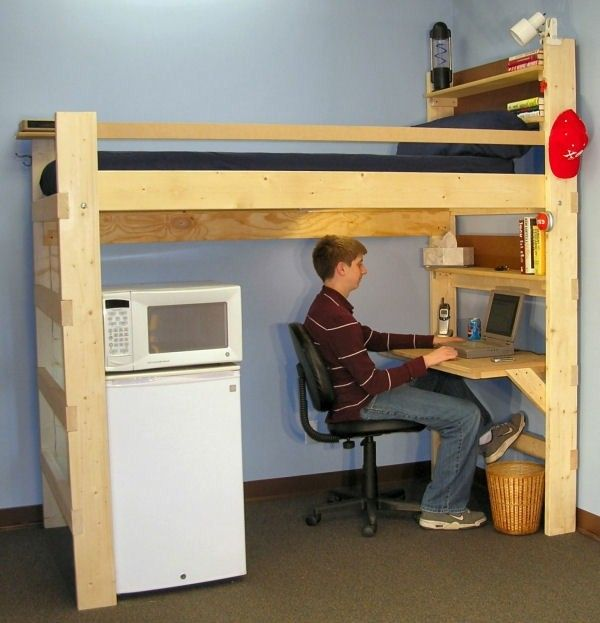 27 best bunk beds images on Pinterest Bunk bed with desk 34