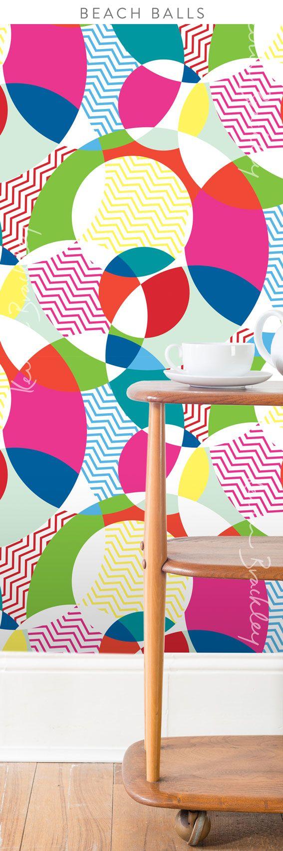 Wallpaper concept in my Beach Balls design