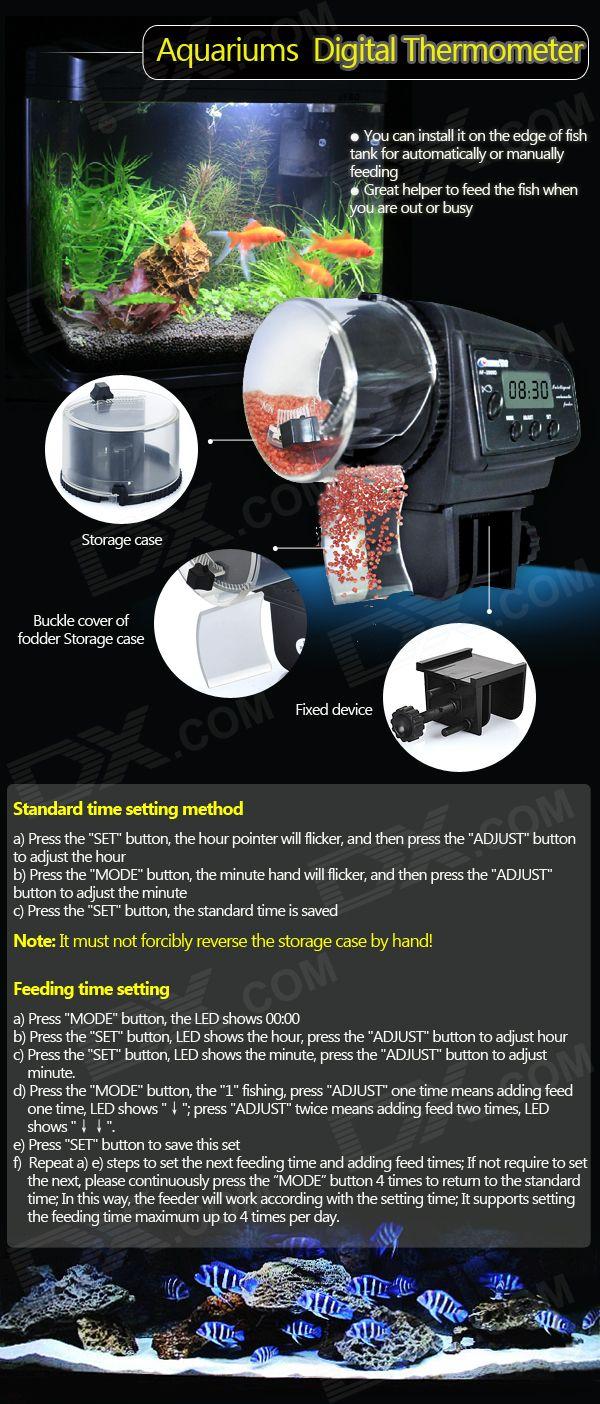 "Cheap AF-2009D 1.1"" LCD Automatic Aquarium Fish Feeder (2 x AAA)"