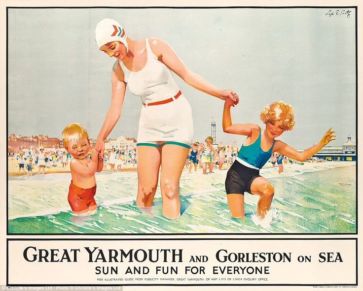 Yarmouth also appears like a far more attractive destination in this advertisement, a far cry from Mr Hurley's depiction - which he describes as 'an ode to the thin drizzle of disappointment that is British coast'