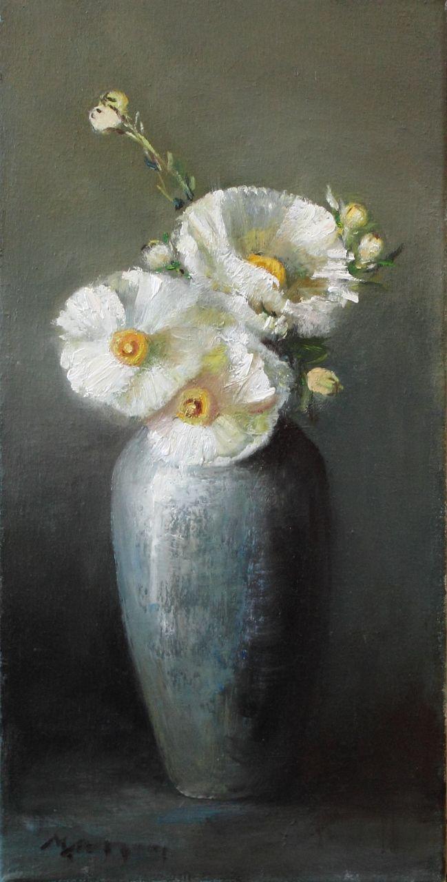 331 Best Flower Oil Images On Pinterest Oil On Canvas Art