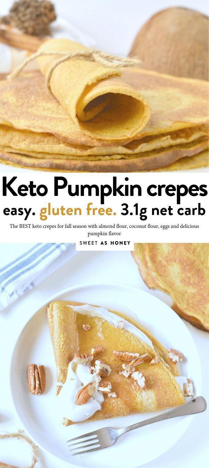 Keto Pumpkin Crepes Ketocrepes Keto Ketofall Ketopumpkin Easy