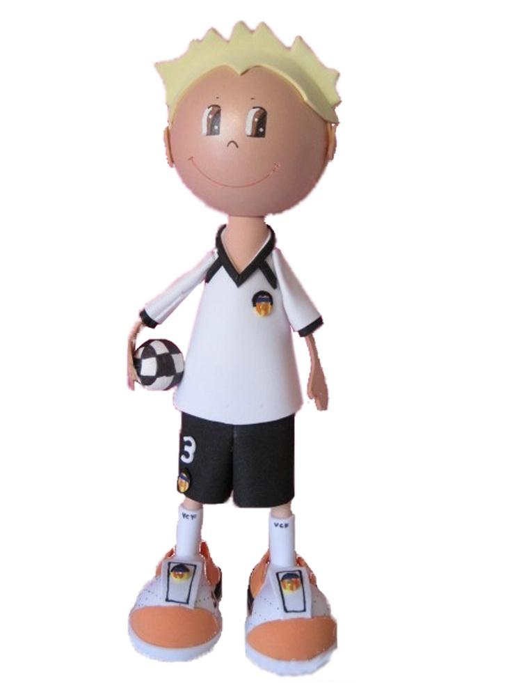 Fofucho jugador Valencia CF 2012/2013 de apróximadamente 25cm de altura.  Disponible también en 35cm y 50cm de altura.  Regalo ideal para el aficionado Che. Personaliza a tu fofucho con tu jugardor del Valencia favorito.
