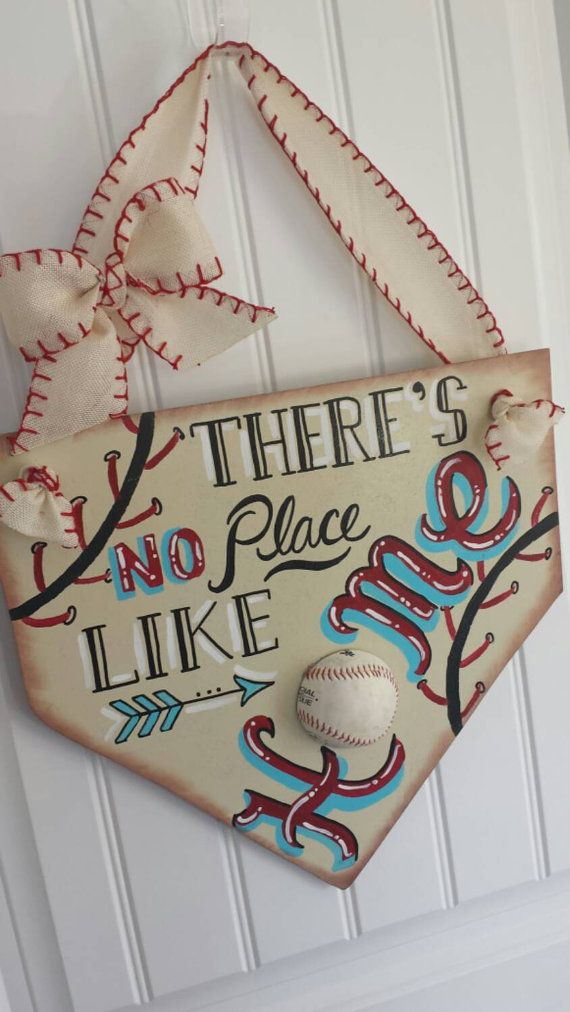 Baseball Decor There's no place like home by SarahBerryDesigns
