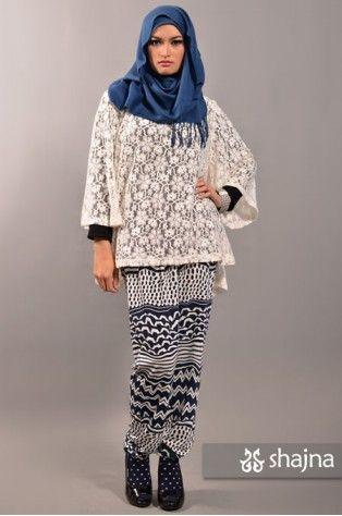 Shajna SK385C - WHITE FREIJA LACE TOP www.shajna.com #hijab #muslimah #turban
