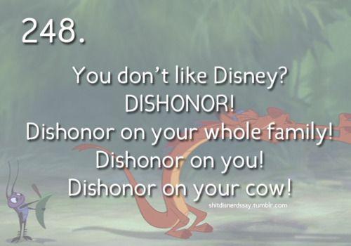 Dishonor!!!