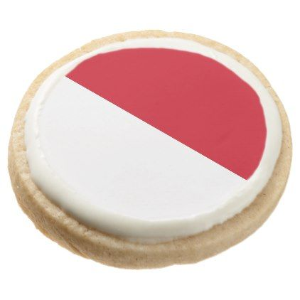 Morocco Flag Round Shortbread Cookie - kitchen gifts diy ideas decor special unique individual customized