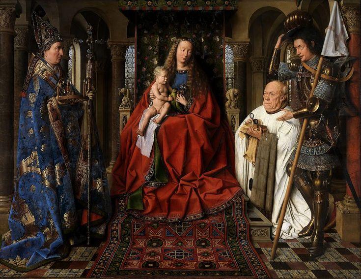 Ян ван Эйк: 14-15 век. Голландец. Ренессанс. Мадонна каноника ван дер Пале
