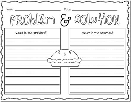 Worksheets Problem And Solution Worksheets 25 best ideas about problem and solution on pinterest reading a year of many firsts the book nook enemy pie