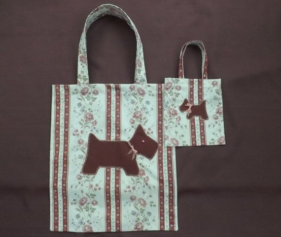 Mother and Daughter Shoppers Totes Floral Tote Bags. Scottie