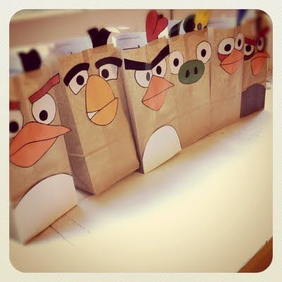 Angry Birds Party Favor Bags--too cute!