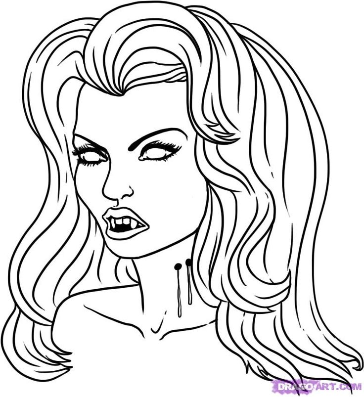 Best 25 Coloriage Vampire Ideas Only On Pinterest
