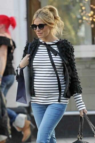 Sienna Miller pregnant.