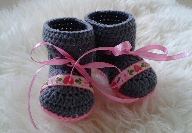 Crochet baby booties, baby girl shoes, baby shower  gift,baby girl gift, newborn girl,newborn booties, baby girl booties, baby shoes by fromKikawithLove on Etsy