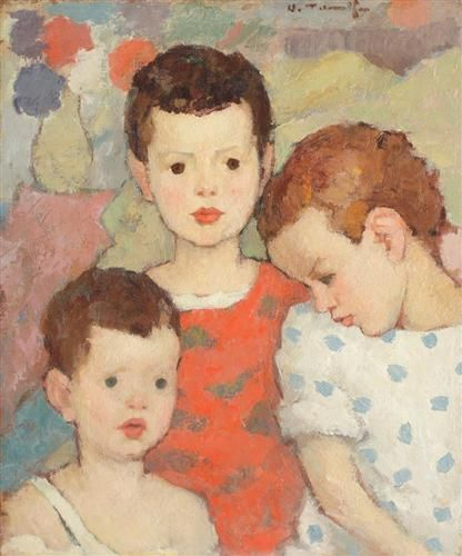 Three Brothers (The Painter's Children) - Nicolae Tonitza