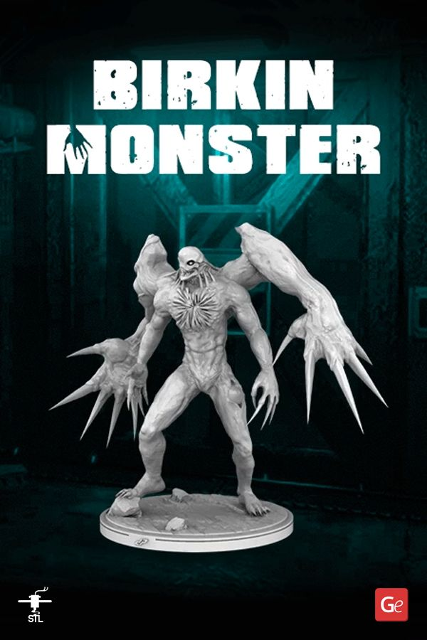 William Birkin Monster 3d Printing Figurine Assembly In 2020