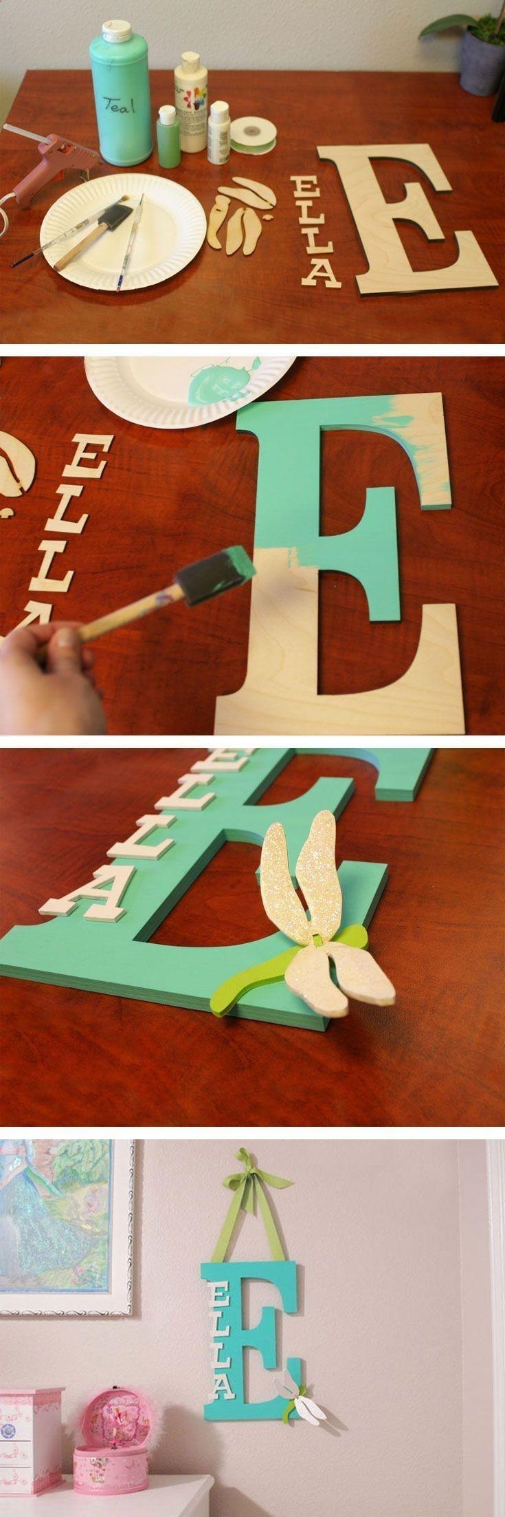 Decoração de porta com a letra do nome, fácil de fazer e super criativo…