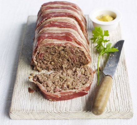 Beef & bacon meatloaf - Five ingredients are all you need for this thrifty dish that makes the most of mince and has a great sage and onion flavour