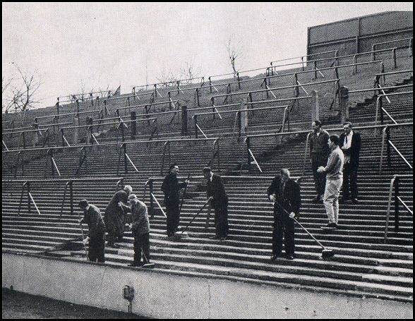 Middlewood Hospital patients working at Hillsborough Football Ground