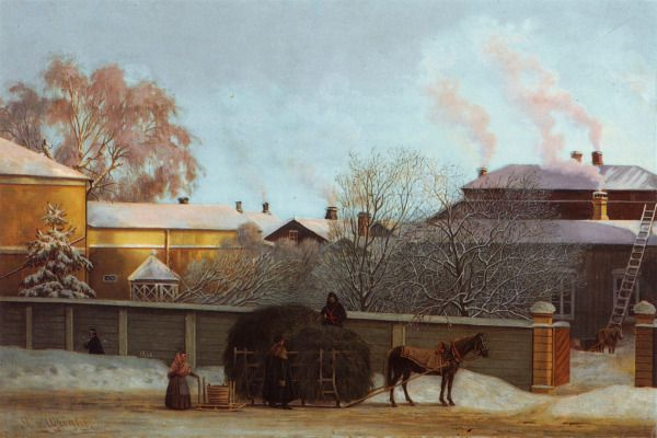 """Annankatu Kylmänä Talviaamuna"" (1868) by Magnus von Wright I have newer loved and thought any other artwork more than this."