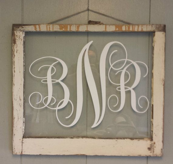 Monogram Vintage Window Personalized For by VaughnCustomCreation, $55.00