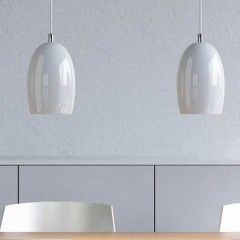 Hanglampen glas boven eettafel of keukenblok