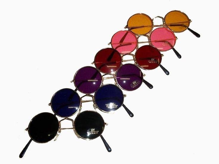 70 er Hippie Brille Flower Power Lennon Sonnenbrille 1x in Kleidung & Accessoires, Herren-Accessoires, Sonnenbrillen & Brillen | eBay