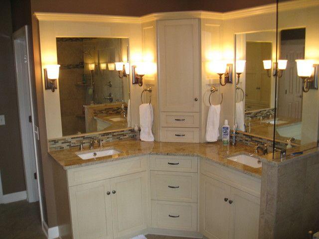 1000 ideas about corner bathroom vanity on pinterest. Black Bedroom Furniture Sets. Home Design Ideas