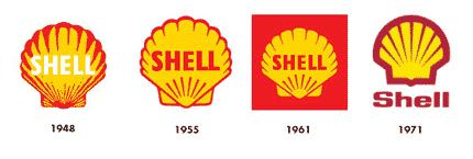 Shell logo design evolution | Logo Design Love