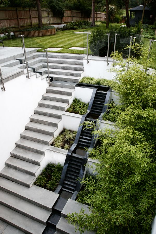 Radlett Garden Design | STUDIO CONCEPT Landscape Architects And Urban  Designers A Large Retaining Wall Within