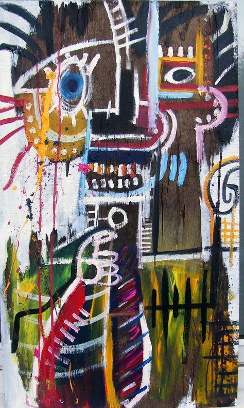 Basquiat (22 de diciembre de 1960, Brooklyn, Nueva York -12 de agosto de 1988, NoHo, Nueva York). Peteneció a las corrientes de Arte contemporáneo, Neoexpresionismo, Primitivismo