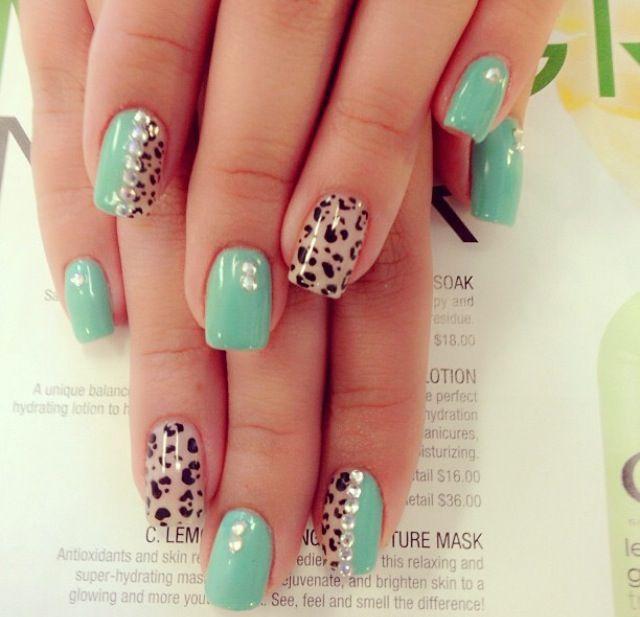 cutecheetahacrylicnails nail designs pinterest