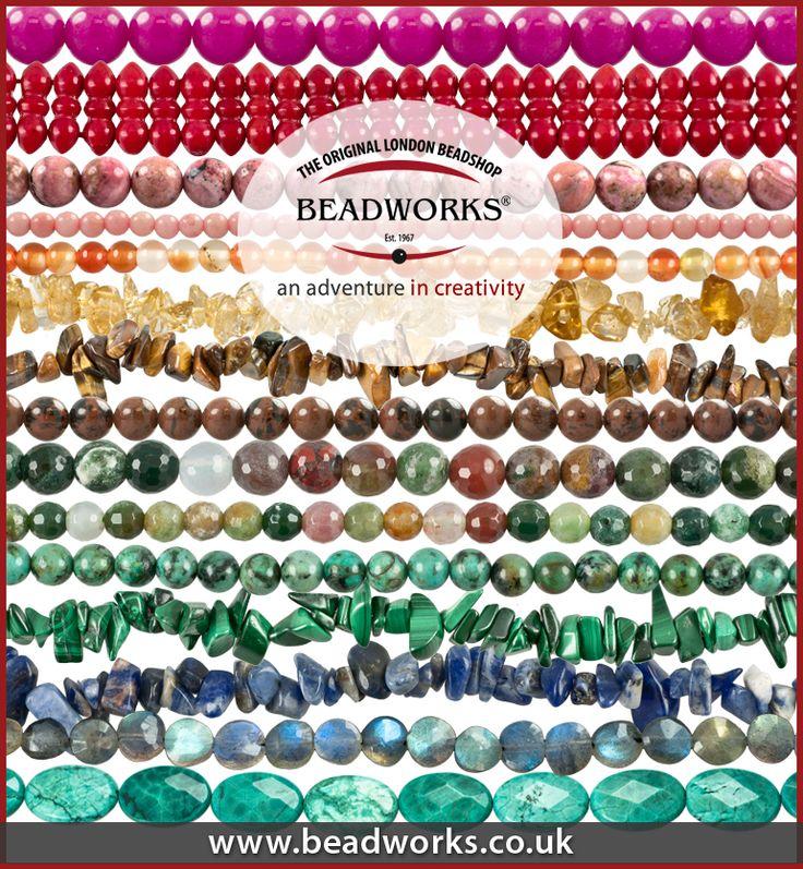 Stunning range of semi-precious gemstones from beadworks.co.uk