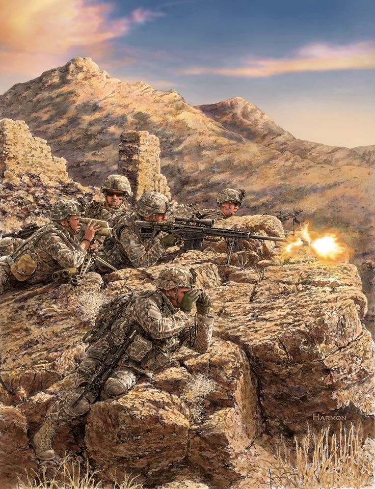 offensive action by us military art prints - Bing Images