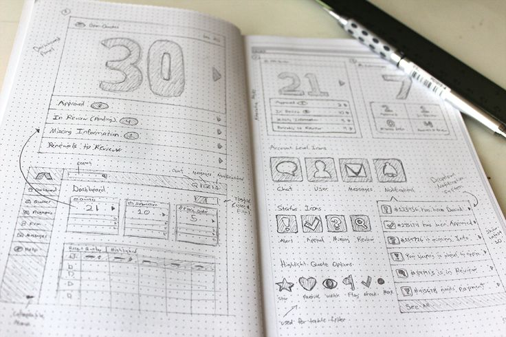 UI wireframe sketch   Chris No