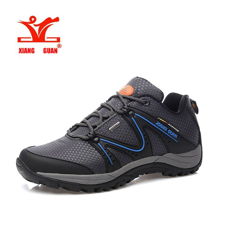 2016 XIANGGUAN High Quality Man Waterproof Canvas Slip Hiking Shoes Durable Climbing Outdoor Shoes Comfort Sneakers Cheap Sale